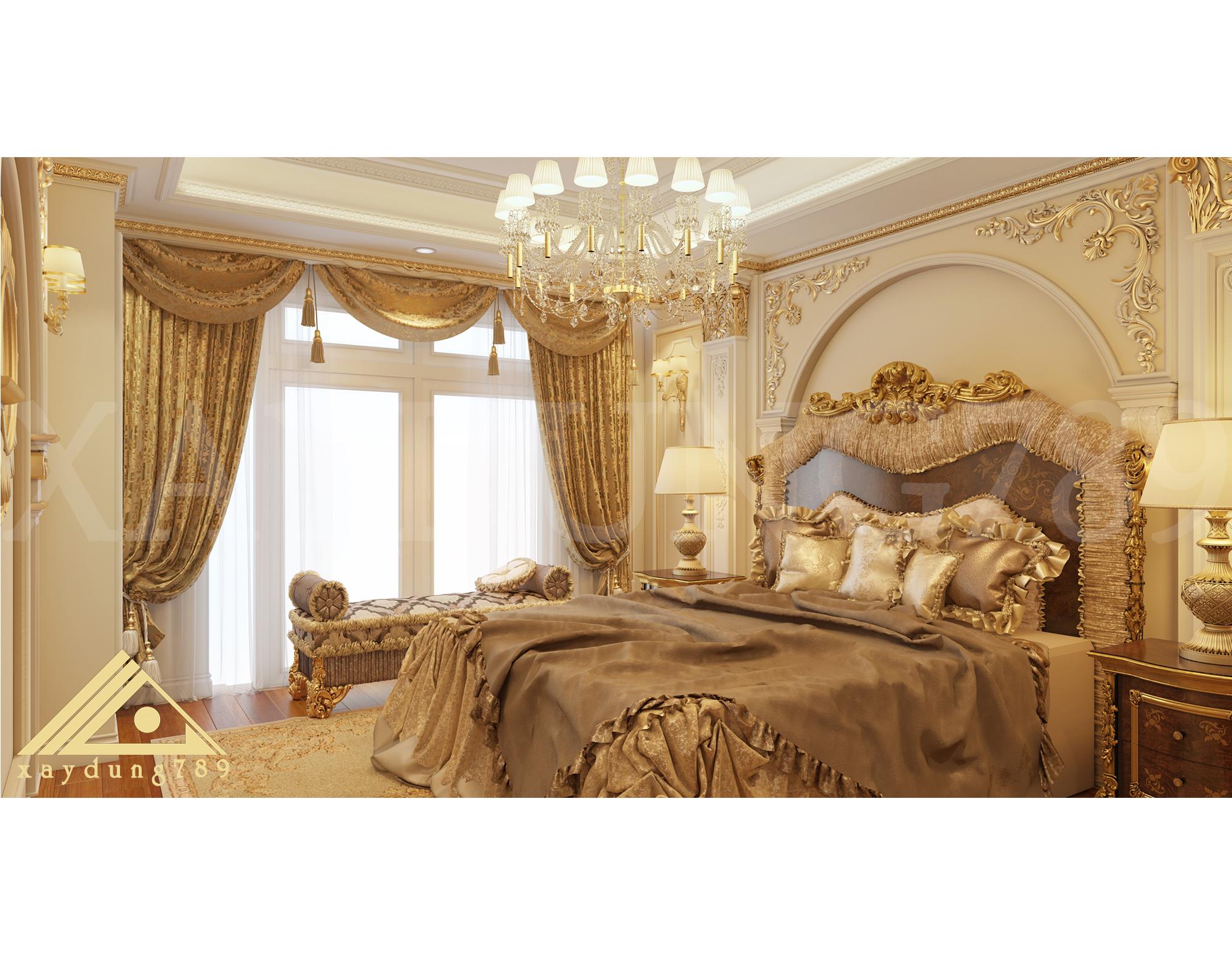 Những mẫu phòng ngủ VIP đẹp nhất cho khách sạn tân cổ điển 5 sao